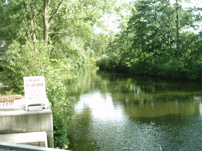 Bille kanal rote Brücke