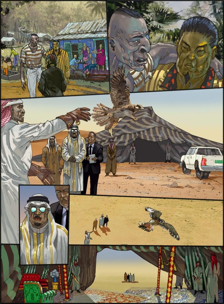 Wüste Scheich